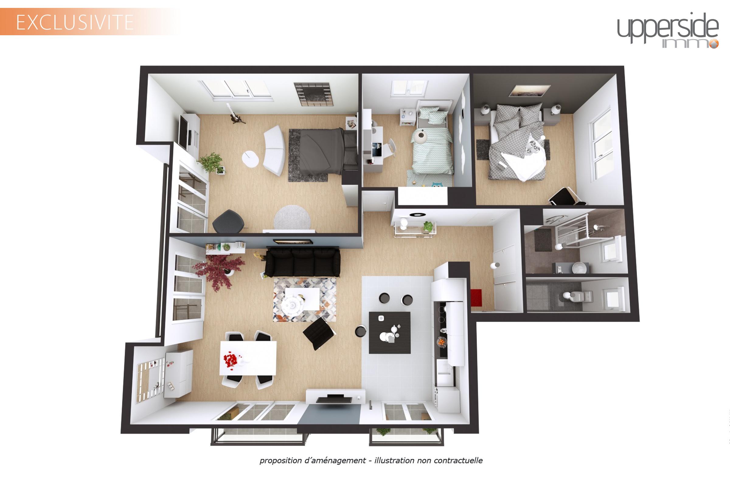 GRIZZLY – Appartement 3/4p voire 4p au calme avec garage et parking Image